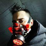 Red Plasma Gas Mask, Cyber Neon Toxic! Scenario Post apocalittico per costumi cyberpunk – LARP – Clubwear