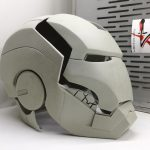 Casco Iron Mark 2-7 Raw cast, Cosplay LARP 1:1, Separato