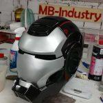 Casco Iron macchina da guerra, Cosplay LARP 1:1 Versione RAW cast